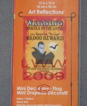 Halloween Warning Count Dracula Reward Banner Flag Mini Decoration Yard ... - $9.99