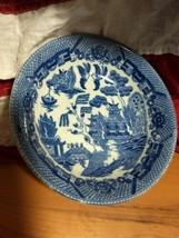 Vintage blue willow porcelain  saucer made in Japan circa 1920-1930 * - $9.90