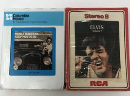 8 Track Lot of 2 Elvis Presley volume 1 and Merle Haggard Keep movin on - $9.49