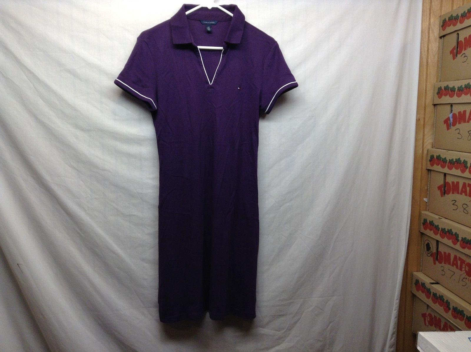 Tommy Hilfiger Purple Casual Collared Shirt-Dress Sz L