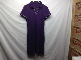 Tommy Hilfiger Purple Casual Collared Shirt-Dress Sz L