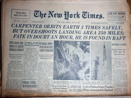 The New York Times, May 25, 1962 - $6.95
