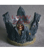 New Skeleton Grim Reaper Candle Holder Votive Gothic - $11.99