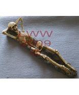 New Relaxing Skeleton Stick Incense Holder Burner Goth - $14.75
