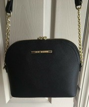 STEVE MADDEN HANDBAG BMAGGIE BLACK CROSS BODY DOME GOLD TONE HARDWARE  - $38.00
