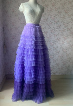 TIERED Tulle Skirt Wedding Tulle Outfit Women Plus Size Layered Long Tutu Skirt  image 3