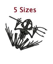 Bone Skeletal Frog US Navy Digitized filled embroidery design Digital Do... - $3.99