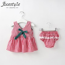 2019 Newborn Baby Girls Clothes Sleeveless Dress+Briefs 2PCS Outfits Set... - $12.00