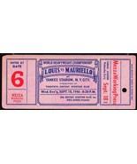 JOE LOUIS vs TAMI MAURIELLO Heavyweight Championship Full Ticket Working... - $167.31