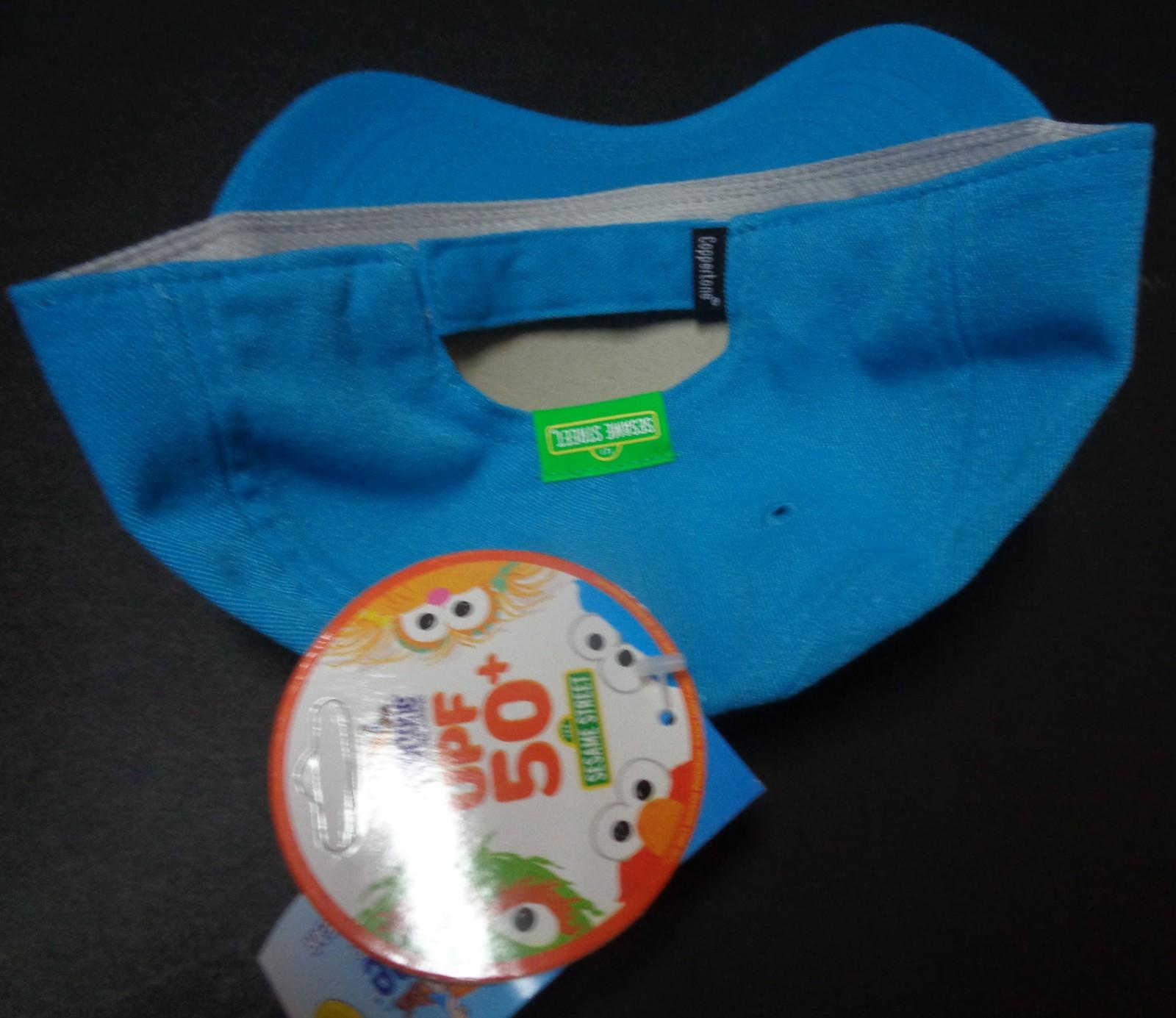 Sesame Street Cookie Monster Hat NWT Coppertone 50 UPF UV Protective Headwear