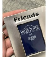 Vintage silver plated photo frame 2x3 FRIENDS UK SELLER BHS - $8.21