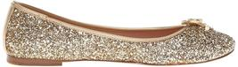 New Kate Spade New York Women's Willa Ballet Loafer Flats Shoes Gold Glitter image 3