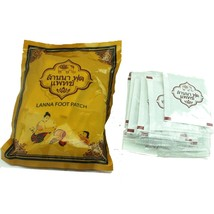 Lanna Thailand All Natural Herb Foot Patch Spa Pads (10 pcs) image 2