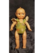 """VINTAGE RUBBER CAMEO NON-SQUEAK KEWPIE JOINTED DOLL 13"""" - 60'S - $50.00"""