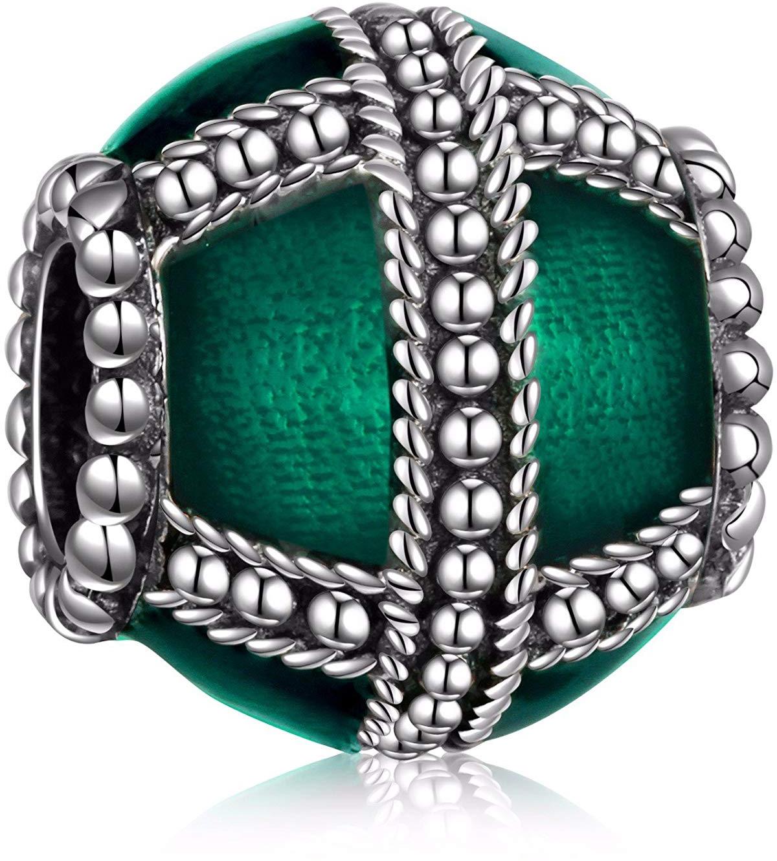 HQCROW 925 Sterling Silver Enamel Cross Vintage Charms Bead Fit European Snake C