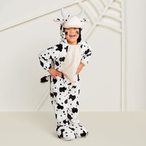 Toddler Plush Black/White Cow Halloween Costume Jumpsuit ~Hyde and Eek - $28.70