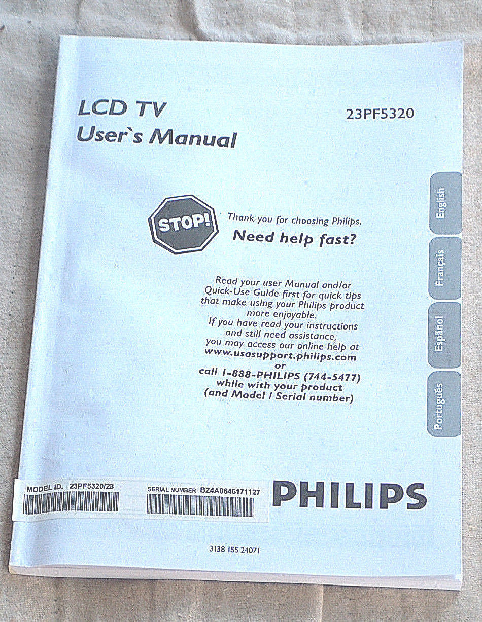 philips 23pf5320 lcd tv user s manual and 20 similar items rh bonanza com Wildgame Innovations Manuals User Manual