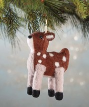 Wool Felted Fawn Ornament by Bethany Lowe