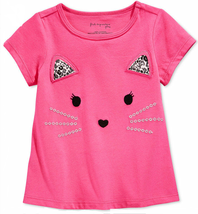 First Impressions Baby Girls' Kitty Face T-Shirt, Pink, 12 Months - $9.89