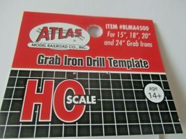 """Atlas  # BLMA4500 Grab Iron Drill Template for 15"""", 18"""", 20"""", and 24""""  HO-Scale image 3"""