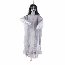 Hophen Animated Halloween Hanging Lady Female Ghost Scary Electric Haunt... - $41.29