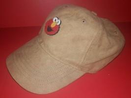ELMO Sesame Street Hat Cap Suede Tan Brown NEW Adjustable Adult - $5.93
