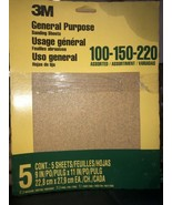 3M 9005  9-Inch by 11-Inch Aluminum Oxide Sandpaper, Assorted New - 20 P... - $21.29