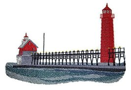 Custom and Unique Lighthouse[Grand Haven Lighthouse] Embroidered Iron on... - $15.83