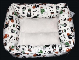 Skull & Bones Halloween Dogs Costumes Bats Plush Padded Sides Bottom Dog... - $39.99
