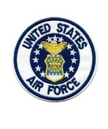 """US AIR FORCE IRON ON PATCH 3"""" Embroidered Applique United States Militar... - $5.99"""