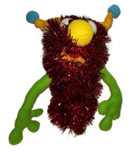 "C6 * Deluxe Custom ""Sparkly Red Monster w/Horns""  Sock Puppet * Custom Made - $10.00"