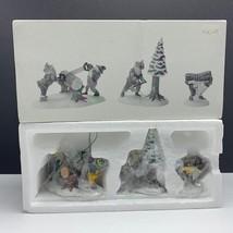 Department 56 Christmas cottage heritage figurines 5630-8 woodsmen elves set 3 - $37.62