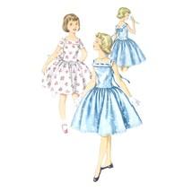1950s Vintage Simplicity Sewing Pattern 1633 Flower Girl Dress Drop Wais... - $8.95