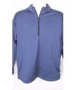 Slazenger dark blue pullover golf windbreaker jacket Drifit 1/4 zip  Med... - $19.99