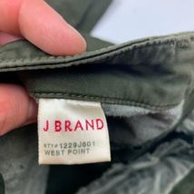 J Brand Cargo Jeans West Point Olive Green USA Women Sz 24 Ankle image 6