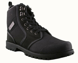 LRG Sycamore Black Leather Nylon Combat Hiking Boots 8 US image 1