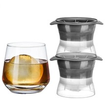 Ice Ball Makers Creative 2.5 Inch Spheres Christmas For Beverages 2 Piec... - $15.82