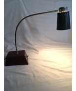 Vintage Industrial Utility Desk Light Lamp Metal Brown/green Handmade. S... - $644,53 MXN