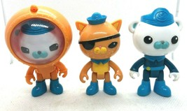 3 Octonauts Figures Diving Suit Captain Barnacles Bear Lieutenant Kwazii... - $7.82