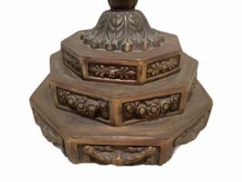 "Vintage 7 Branch Temple Menorah Solid Metal Brass 12"" Jewish Rotating Arms image 2"