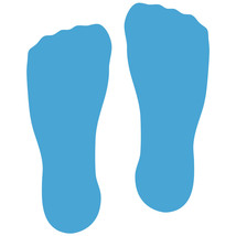 LiteMark Ice Blue Sock Footprint Decal Stickers - Pack of 12 - $19.95
