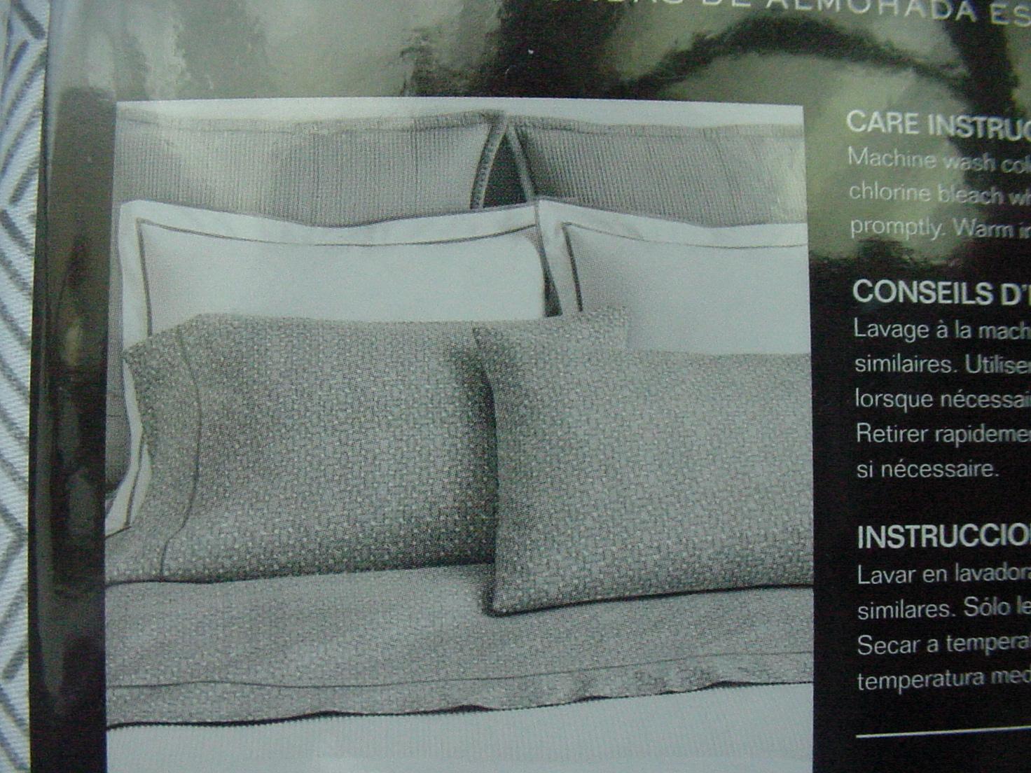 Ralph Lauren Spencer Basketweave Grey Gray Pillowcases Standard