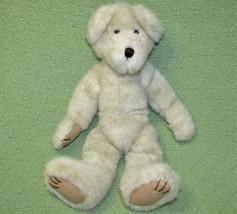 "14"" BOYDS BEARS SOFT FURRY BEIGE TEDDY BEAR ANIMAL JOINTED FLOPPY PLUSH ... - $18.70"