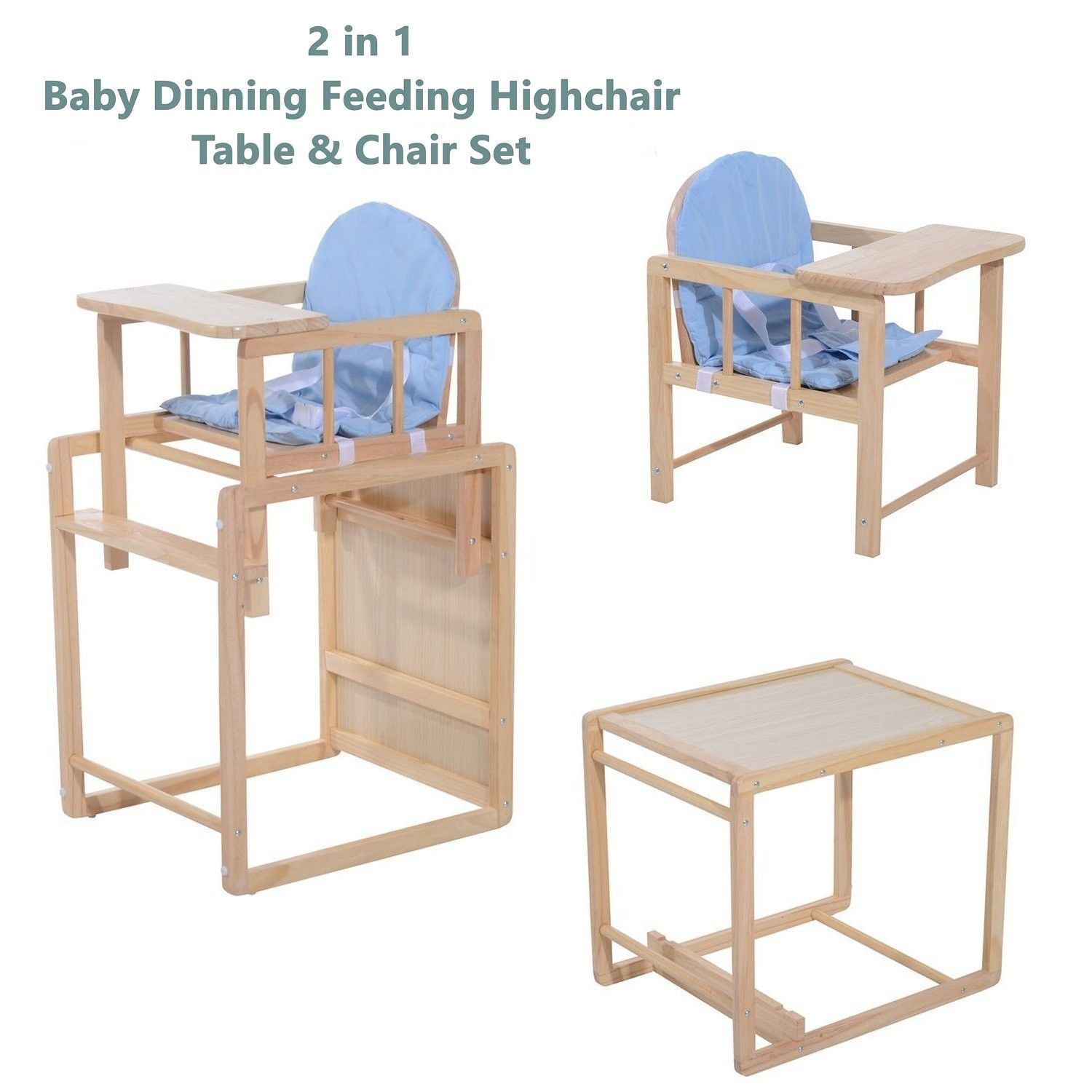 Peachy 2 In 1 Baby Wooden Feeding High Chair And 50 Similar Items Andrewgaddart Wooden Chair Designs For Living Room Andrewgaddartcom
