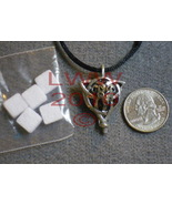 Celtic Triquetra Wolf Aromatherapy Locket w/ 5 pads NEW - $9.85