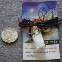 Fairy Dust in Glass Potion Mason Jar Bottle Necklace NEW - $7.75