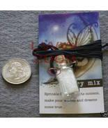 Fairy Dust in Glass Potion Mason Jar Bottle Necklace NEW - $7.75