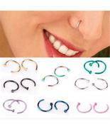 Fake Septum Medical Titanium Nose Ring Silver Gold Body Clip Hoop For Women - $13.99+