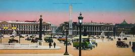 PARIS in 1900s Beautiful Chromotype Photo  - Place de La Concorde - $19.80