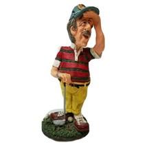 "Russ Berrie Doug Harris Golfer Figurine "" Eye On The Ball""` - $17.81"